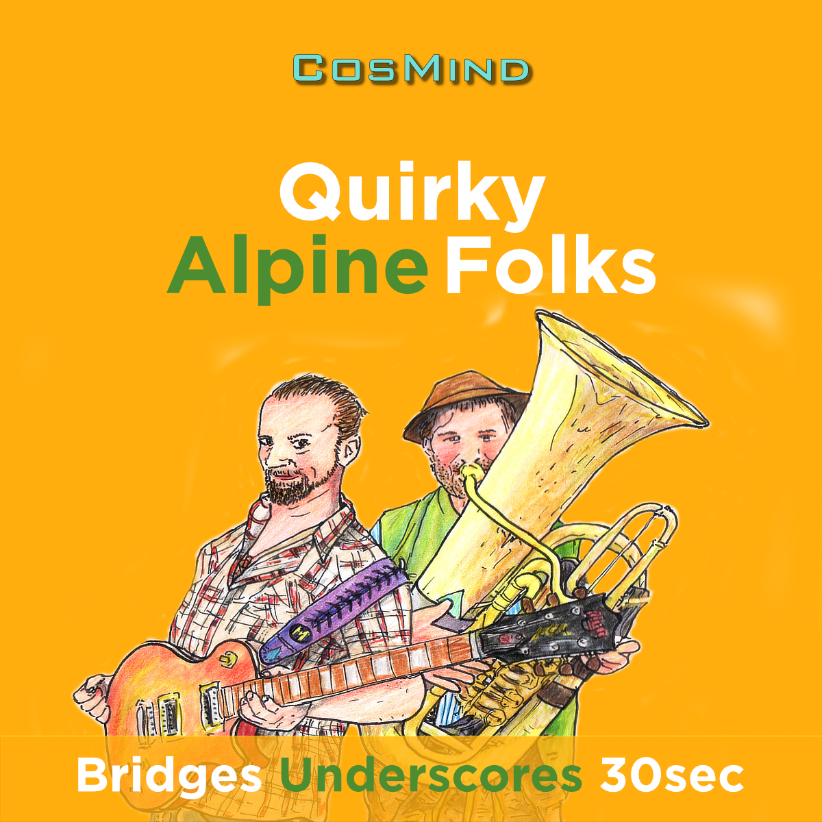Quirky Alpine Folks - Bridges - Underscores - 30sec